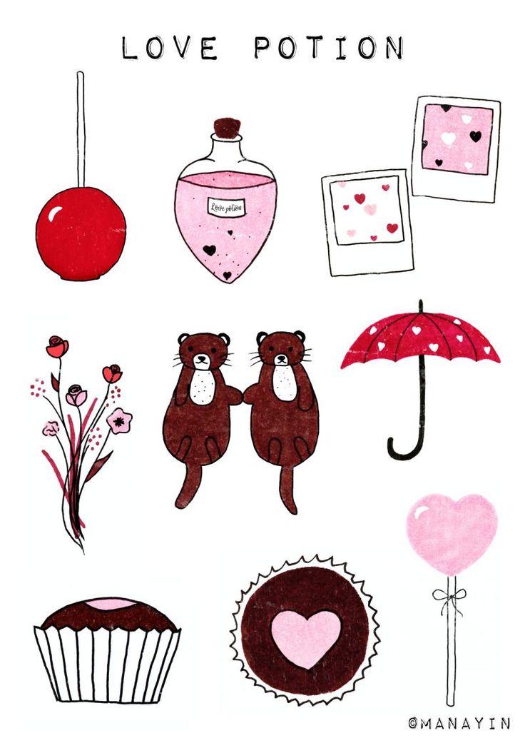 Des stickers pour la Saint-Valentin à imprimer ...