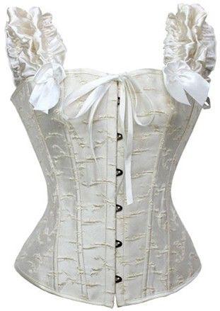 The Violet Vixen - Angel Wing Halter Top, $42.99 (http://thevioletvixen.com/corsets/angel-wing-halter-top/) White corset, bridal.