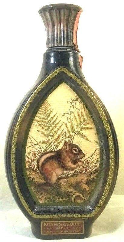 Vintage Beam S Choice Jim Beam Chipmunk Whiskey Decanter