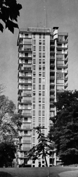 FRANCO LONGONI & VICO MAGISTRETTI - TORRE AL PARCO, MAILAND - 1956