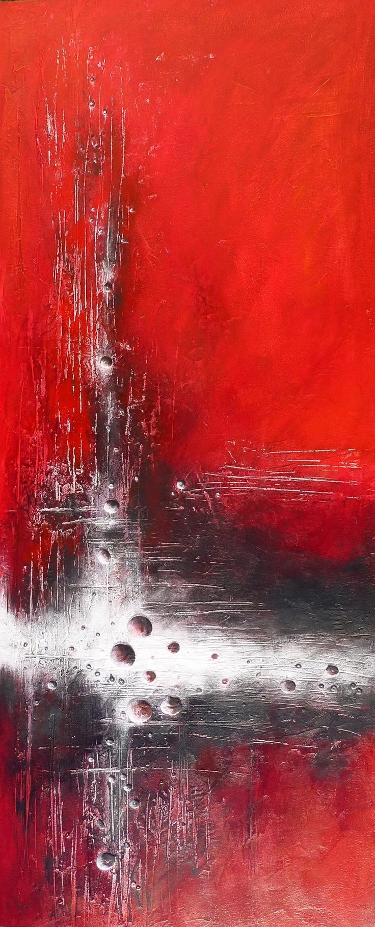 peinture style design 50x120mm - acrylique sur medium #peinture #abstrait www.rachel-seguin.fr
