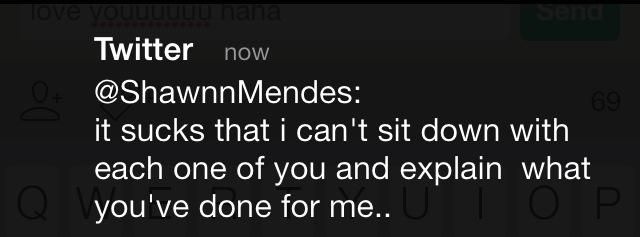 <3<3<3 I think my heart may have just exploded while reading this tweet from Shawn
