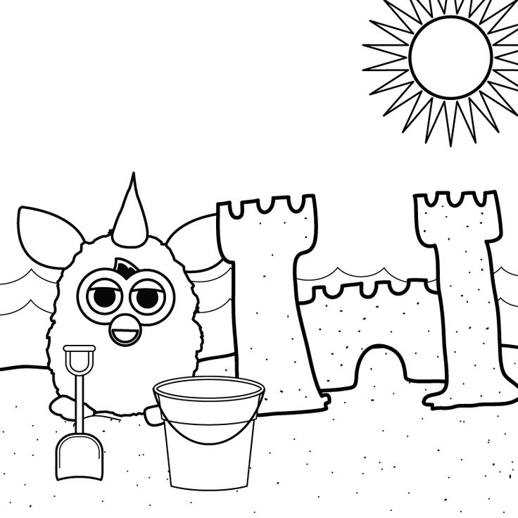 Beach trip... check! Sand castle... check! Color it all up... your turn!