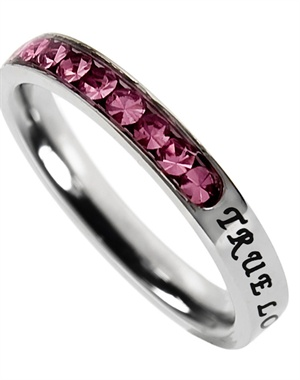 Princess Cut October Birth Stone Ring - Christian Rings for $20.76 | C28.com