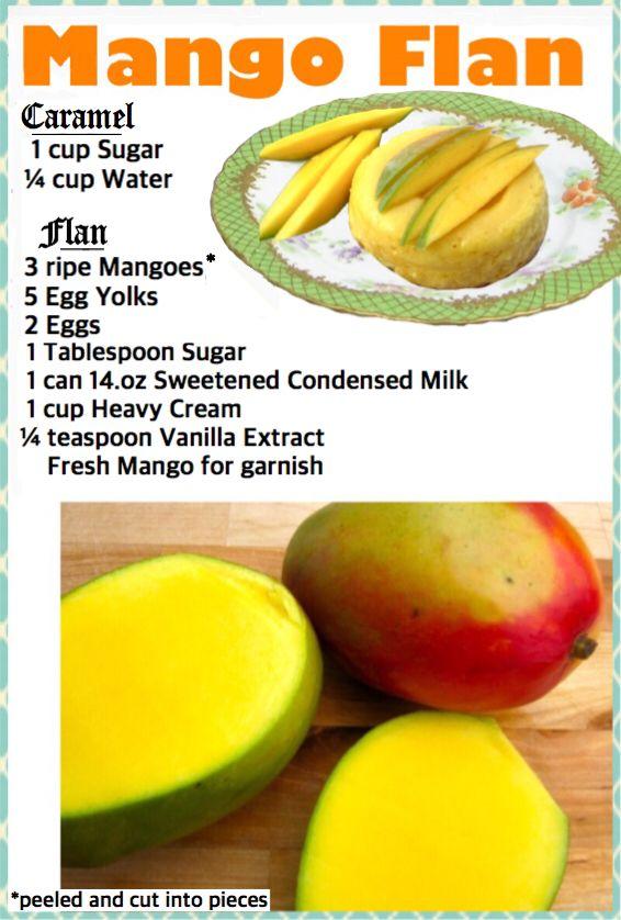 Mango Flan #mycolombianrecipes