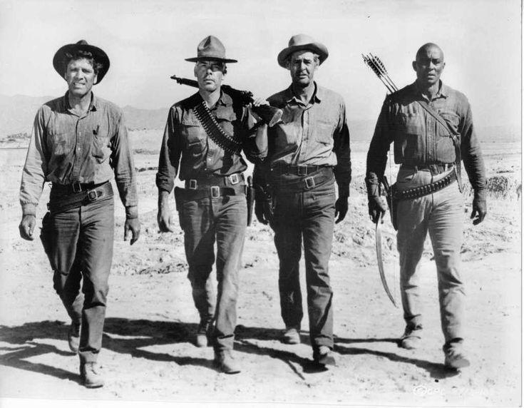 Burt Lancaster, Lee Marvin, Robert Ryan & Woody Strode - The Professionals, 1966
