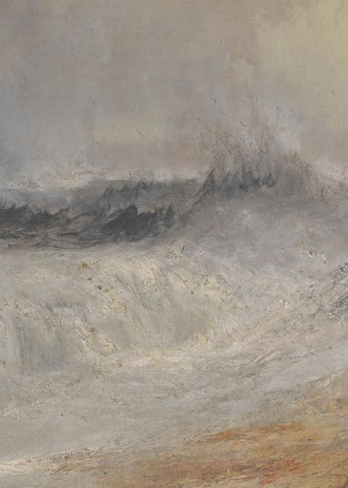 """ Waves Breaking against the Wind (detail), J.M.W. Turner, ca. 1840 """