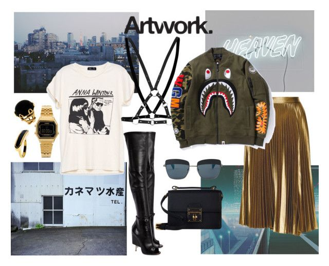 """""""Untitled #217"""" by raphaelaelena on Polyvore featuring Givenchy, Monica Vinader, Casio, Topshop, Dolce&Gabbana, Valentin Magro, Yohji Yamamoto and A.L.C."""