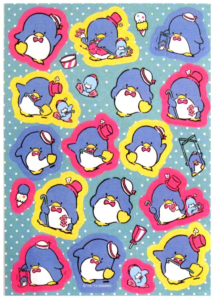 Sanrio Tuxedo Sam Blue Dots Sticker Sheet Cute Stickers