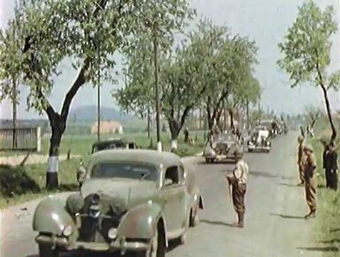 MB K.H.Frank on the run. Pilsen road near Rokycany. 05/09/1945 Czech Republic
