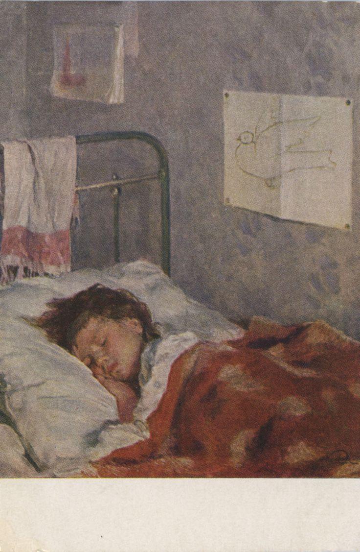 Festmenyek 3d ben 575 - Nikolai Mikhailovich Kol Ickij 1907 1979 The Children S Room