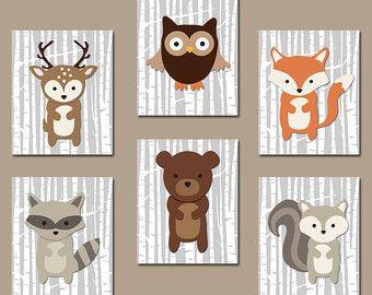 Cadres - Animaux de la Foret - Chambre bébé - Idées déco - Sélectionné par Violette-Victoria V sur Etsy