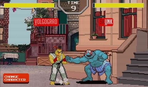 Sesame Street Fighter is now a video game