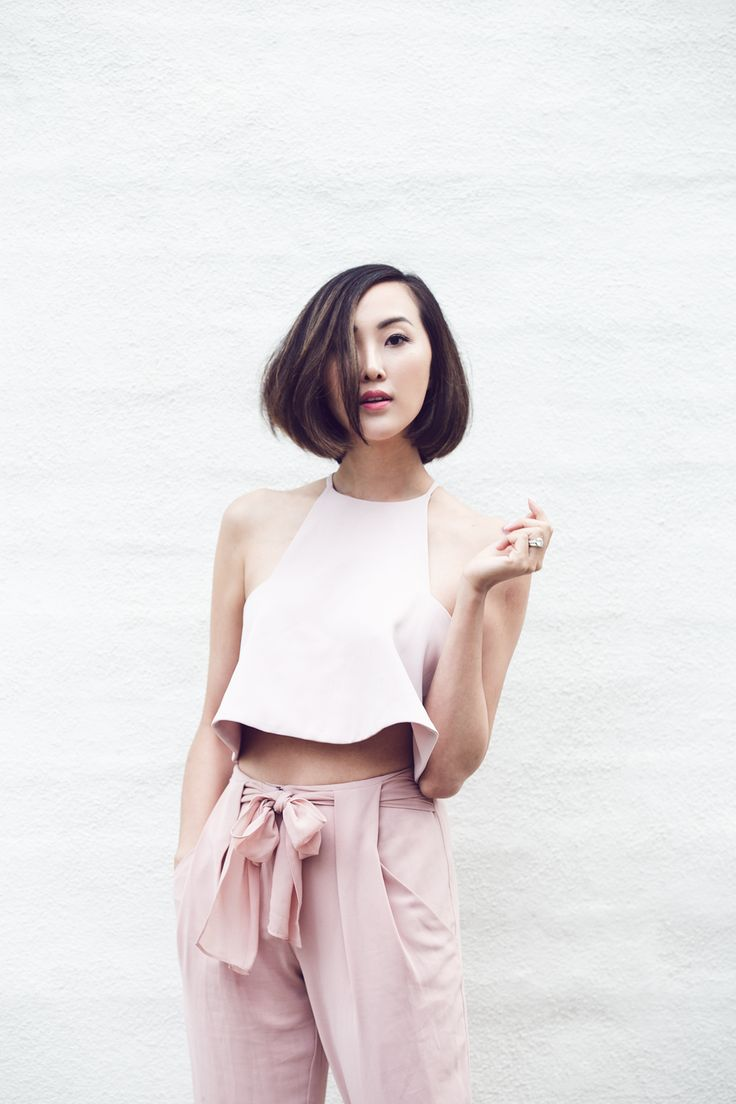 Blush Crop Top & High Waisted Trousers - The Chriselle Factor #TheChriselleFactor
