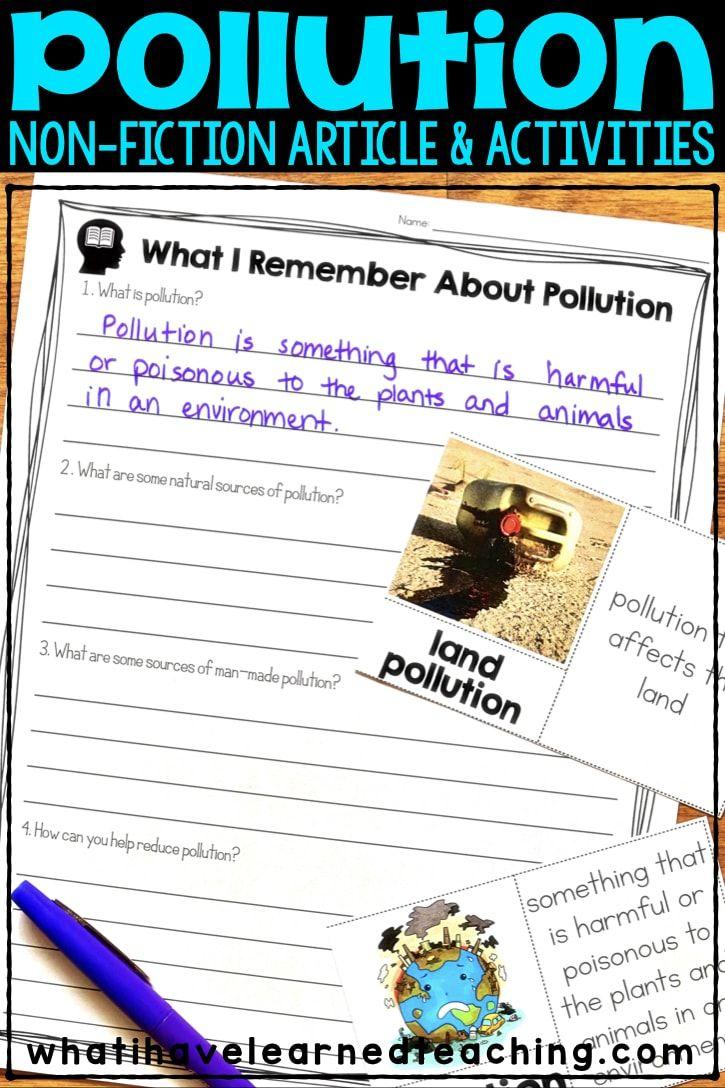 Pollution Nonfiction Article Comprehension Activities Comprehension Activities Nonfiction Articles Teaching Third Grade [ 1088 x 725 Pixel ]