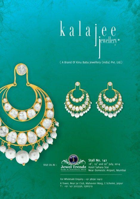 "Kalajee Jewellery, #Jaipuris coming to #Mumbai with our fresh collection of #Diamond Polki jewellery at the ""Jewel Trendz Exhibition"""