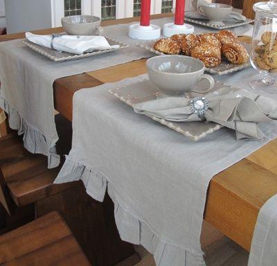 Romantiikka- kaitaliina 40x140 cm, harmaa