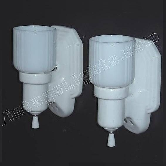 Bathroom Wall Sconce With Electrical Outlet Home Design: 157 Best Images About Vintage Bathroom Light Fixtures On