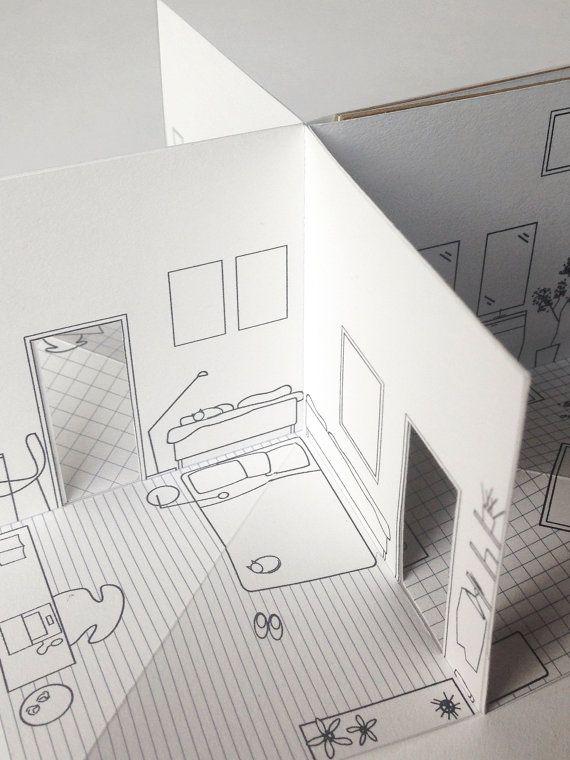 Scala di House piccolo libro pop-up illustrato 3/16 di pipsawa