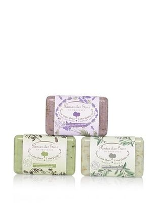 53% OFF Panier des Sens Extra Gentle Exfoliating Vegetable Soaps, Set of 3