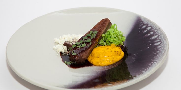 Adam Stokes pairs Jacob's ladder of beef recipe with mustard and carrot purée and horseradish to make a celebratory main