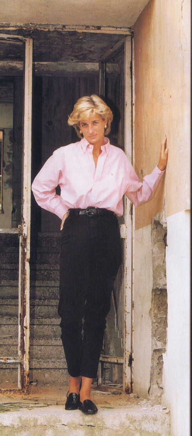August 10, 1997: Diana, Princess Of Wales visiting Sarajevo, Bosnia.
