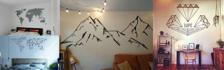 Aprenda a usar fita isolante para melhorar o aspecto das suas paredes!
