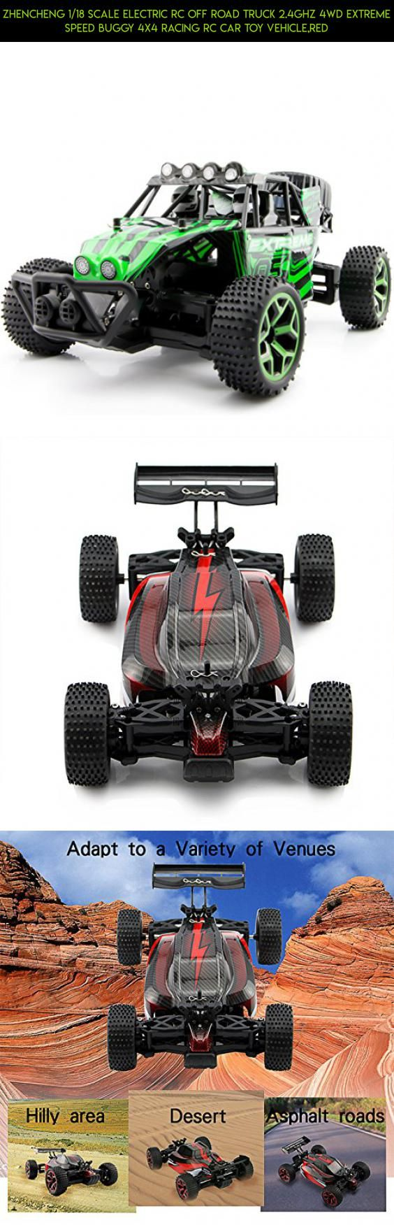 Zhencheng 1/18 Scale Electric RC Off Road Truck 2.4Ghz 4WD Extreme Speed Buggy 4x4 Racing RC Car Toy Vehicle,Red #fpv #kit #camera #racing #plans #drone #a959 #gadgets #technology #wltoys #tech #shopping #parts #products
