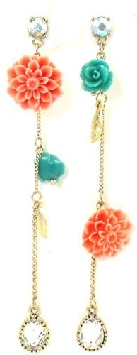 Betsey Johnson Jewelry Garden Party Flower Mismatch Linear Earrings New 2013 Betsey Johnson, http://www.amazon.com/dp/B00BUVA7V0/ref=cm_sw_r_pi_dp_0Ohurb0JQ37VZ