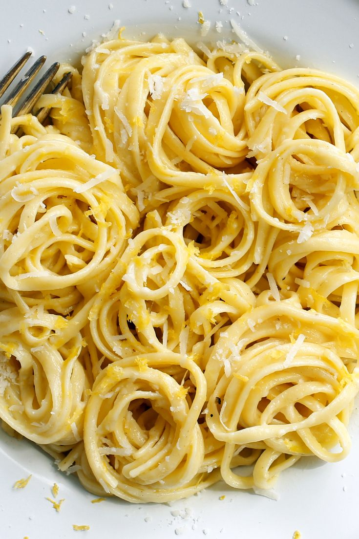 The beauty of this recipe lies in its simplicity. All you need is pasta, a lemon, a knob of butter, a generous pour of heavy cream and a hunk of the best Parmesan you can get your hands on. (Photo:  Craig Lee for The New York Times)