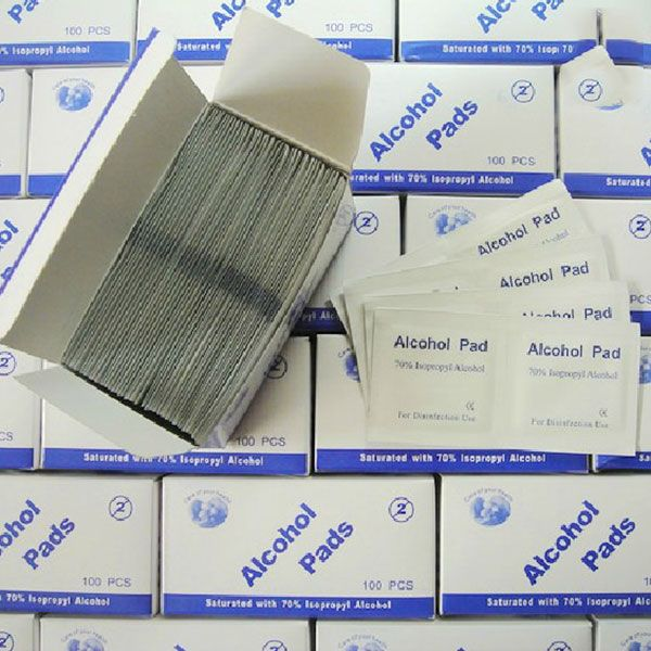 Portable Useful 100pcs/Box Alcohol Swabs Pads Wipes Skin Cleanser Sterilization 70% Isopropyl First Aid Home