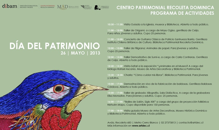 Programa Día del Patrimonio 2013