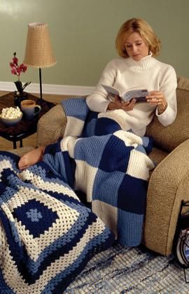 Lapghans Free Knit and Crochet Patterns from Red Heart Yarns