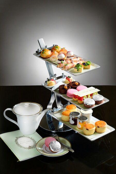 laduree afternoon tea @ mo bar mandarin oriental hongkong love the server