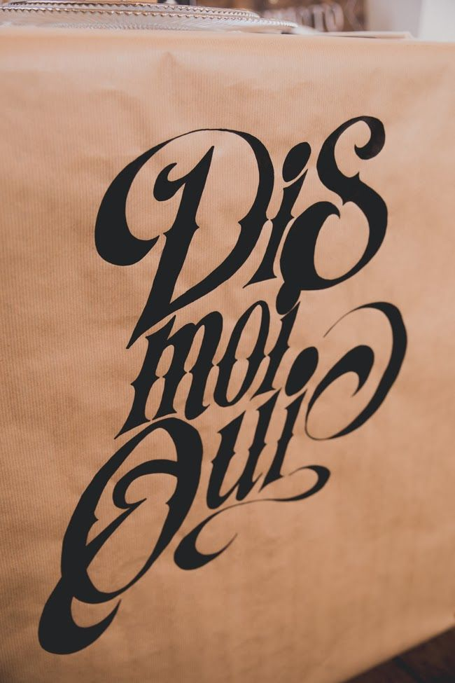 Handmade calligrapy par Monsieur Plus Madame (M+M) www.monsieurplusmadame.fr