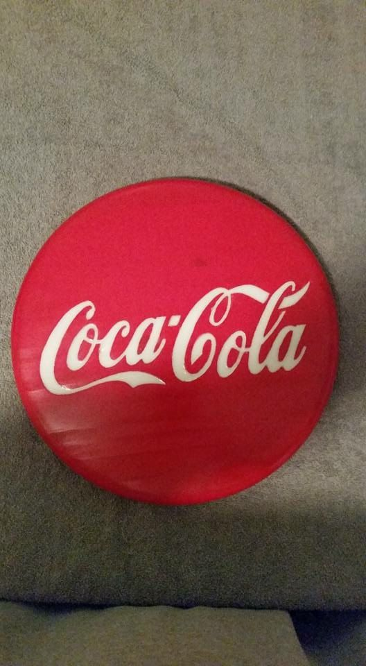 Handmade Coca-Cola Epoxy Filled Wall Plaque by CustomWallPlaques