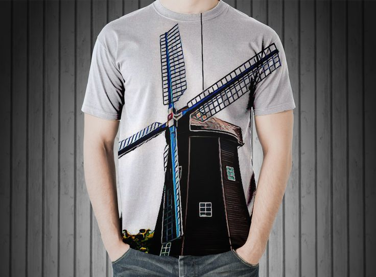 T-Shirt - Windmill holland energy country