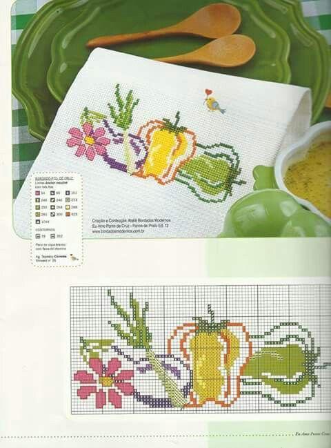 Mejores 30 imágenes de Verdura en Pinterest | Paños de cocina, Punto ...