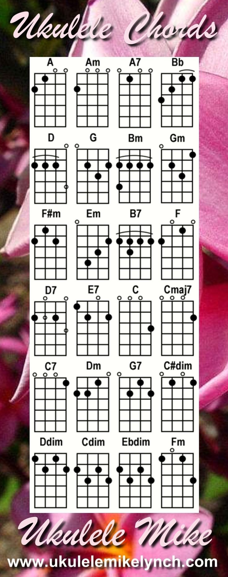 14 best ukulele images on pinterest acoustic guitars classroom ukulele chords had to pin once i saw they were from ukulele mike hexwebz Choice Image