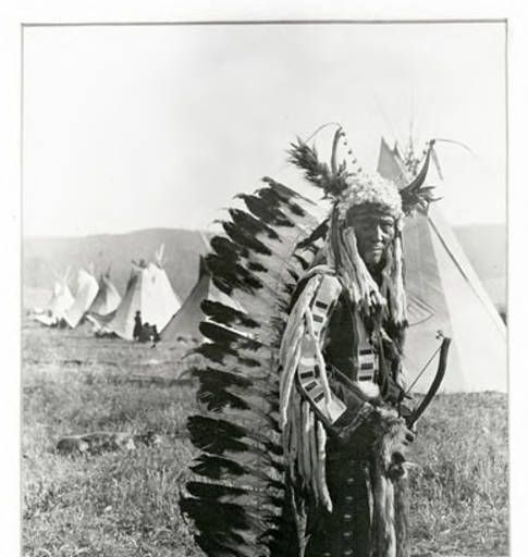 Montana Native Plants: A Salish Or Kootenai Man :: UM-Photo