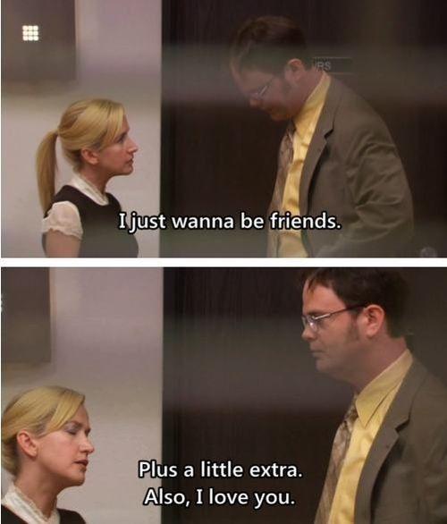 "This gutsy (but temporary setback) in Dwight and Angela's courtship: | The 17 Most Romantic Moments On ""The Office"""