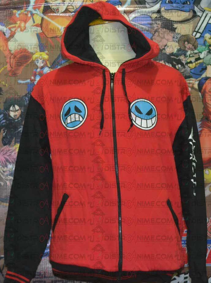 Jual Jaket Portgas D. Ace One Piece Merah - DistroAnime.com