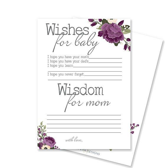Baby Shower Advice for Mom Card  Rustic Baby Shower Game