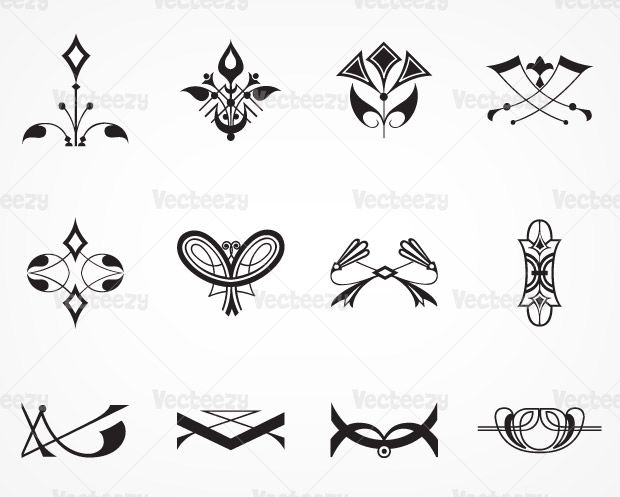 Vecteezy - Art Deco Signs and Ornament Vectors