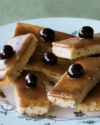 Butterscotch-Glazed Coffee Shortbread Bars