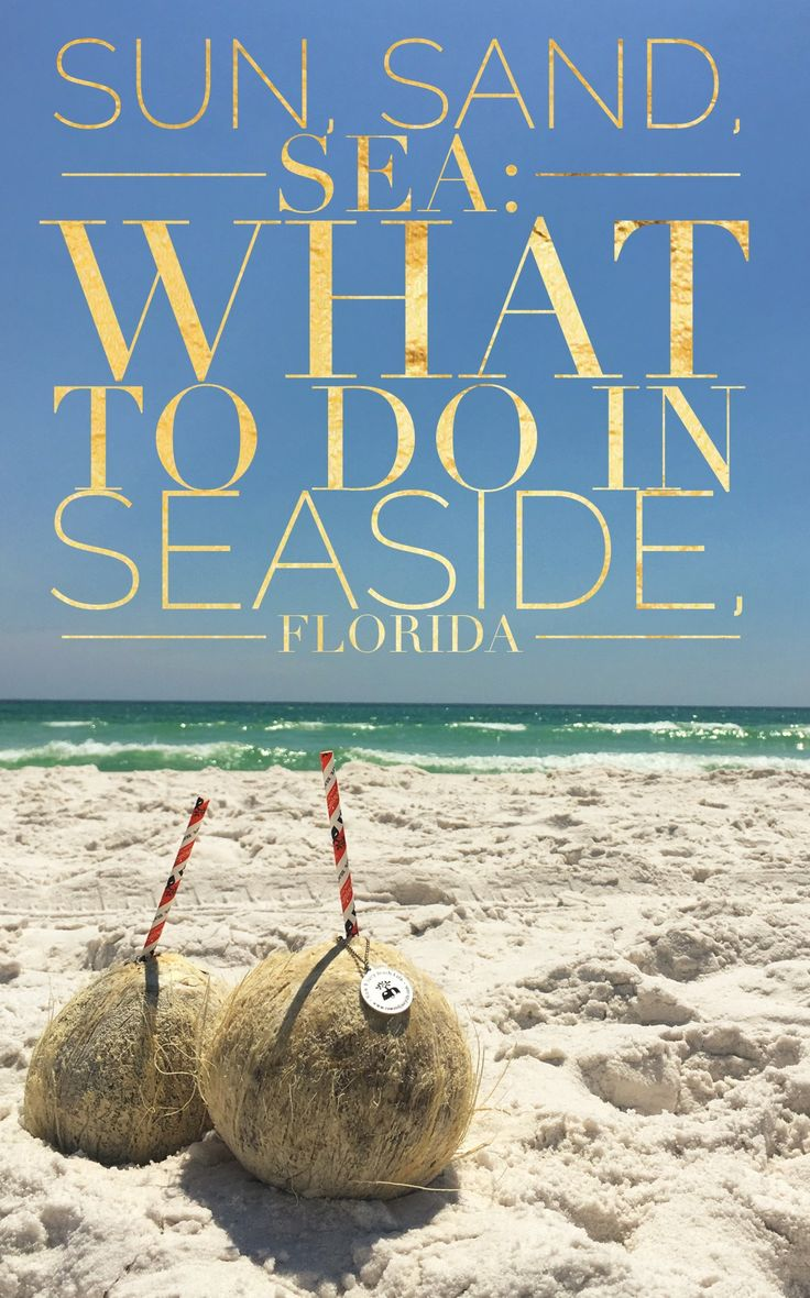 Looking for a relaxing day trip or weekend getaway in Florida? Find out what to eat, drink, and do in Seaside, Florida to have a great time!