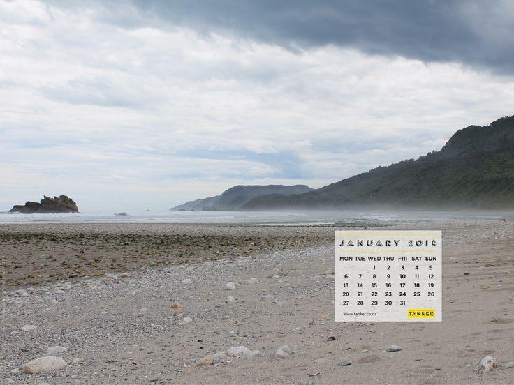 January 2014 Desktop Calendar (iMac version), Fox River, West Coast, South Island, New Zealand via http://tankercreative.com/2014/01/13/january-2014-desktop-calendar/