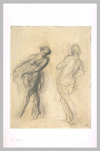 Two sketches for a dancer - Honore Daumier