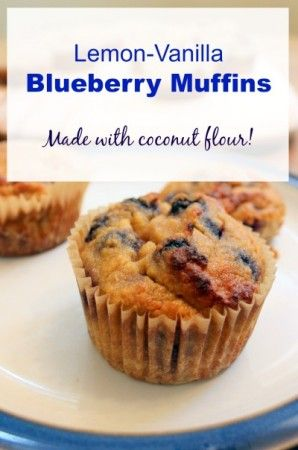 Coconut Flour Blueberry-Banana Muffins with vanilla and lemon | Health, Home, & Happiness