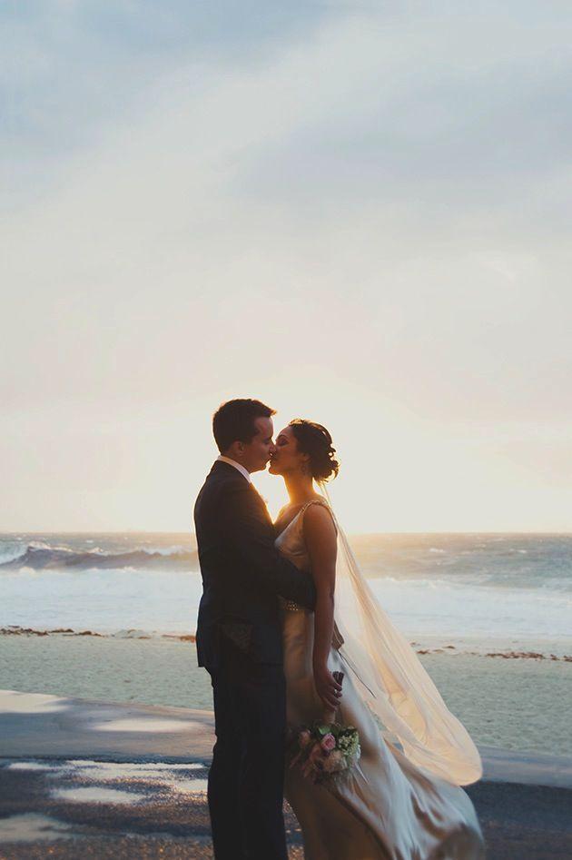 sunset beach wedding | cj williams photography